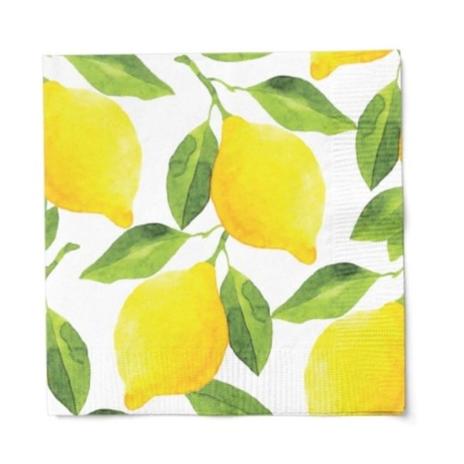 Cocktail Napkin Lemons