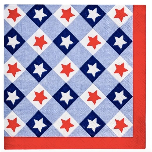 Cocktail Napkin Patriotic Gingham