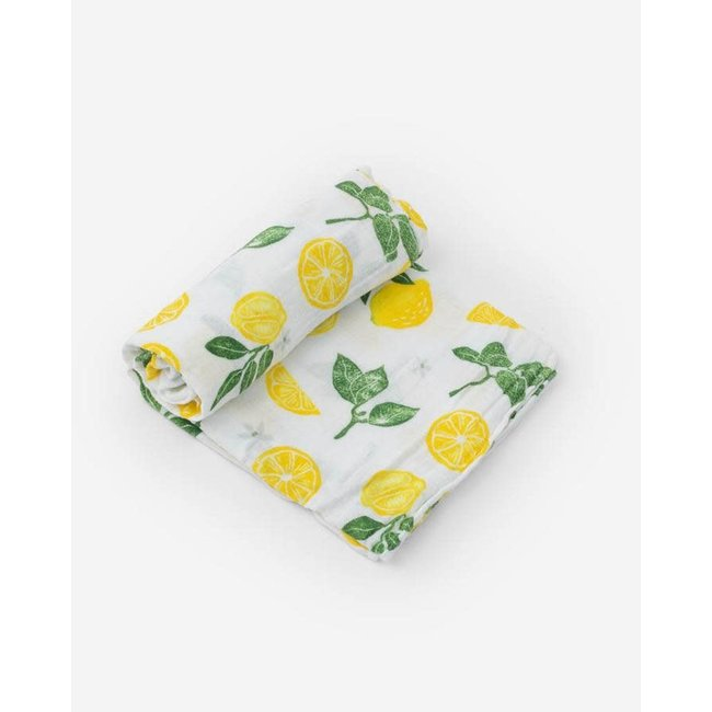 Lemon Drop Cotton Muslin Swaddle Single