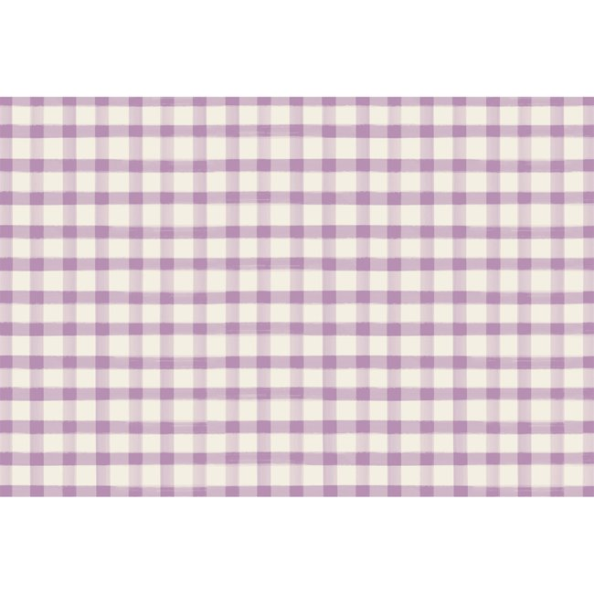 Lilac Painted Check Placemats 24 sheets