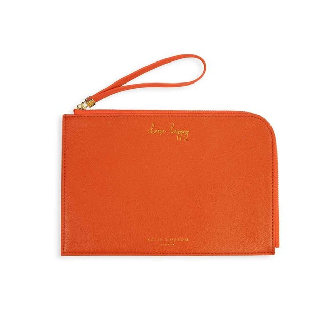 Choose Happy Pouch Burnt Orange