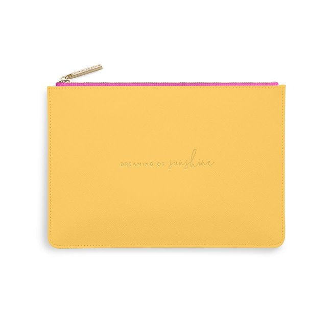 Dreaming of Sunshine Perfect Pouch - Ochre and Fuchsia