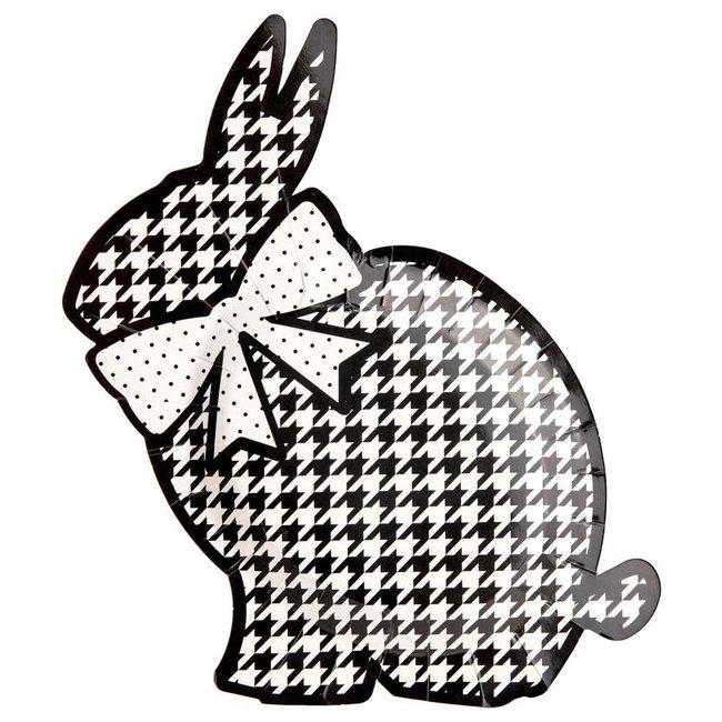 Blanc & Noir Bunny Plates