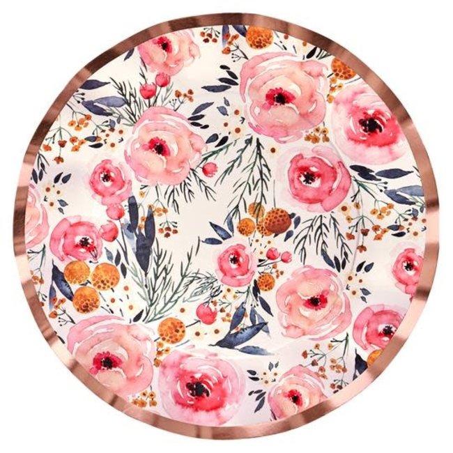 Wavy Dinner Plate Blush Bouquet