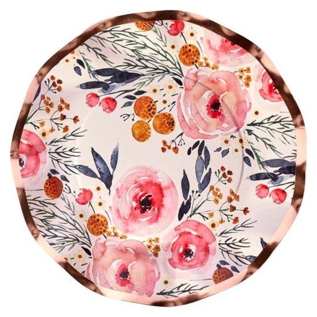 Wavy Salad Plate Blush Bouquet