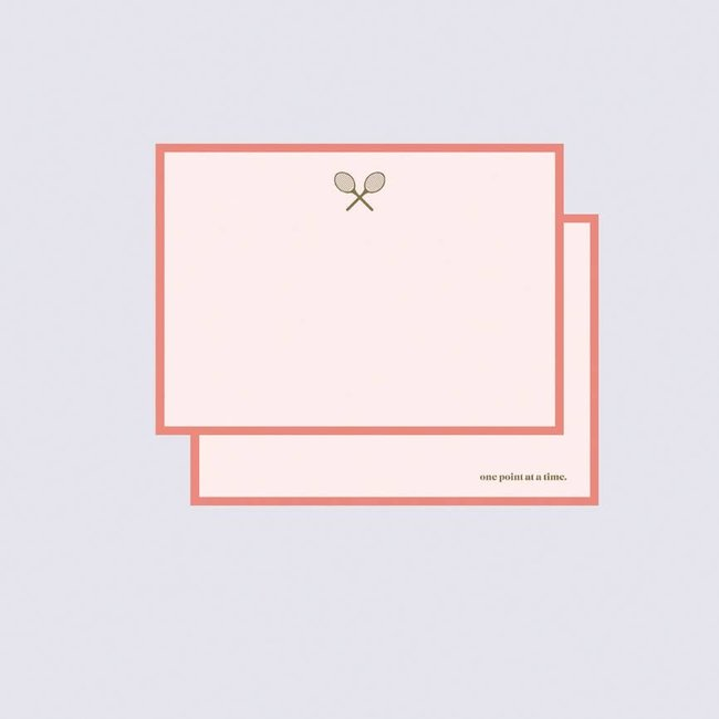 One Point at a Time — Luxe Gold Foil Racquet Note Card Set