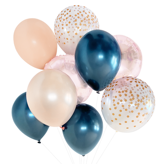 Navy and Blush Balloon Bouquet