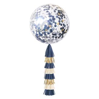 Navy & Gold Jumbo Confetti Balloon