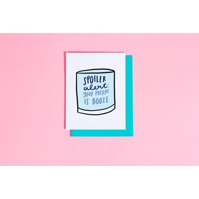Spoiler alert: Your Present is Booze Card
