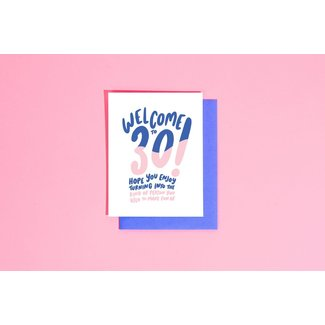 Welcome to 30 Birthday Card