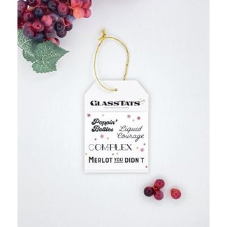Wine Time Drink Markers Gift Tag