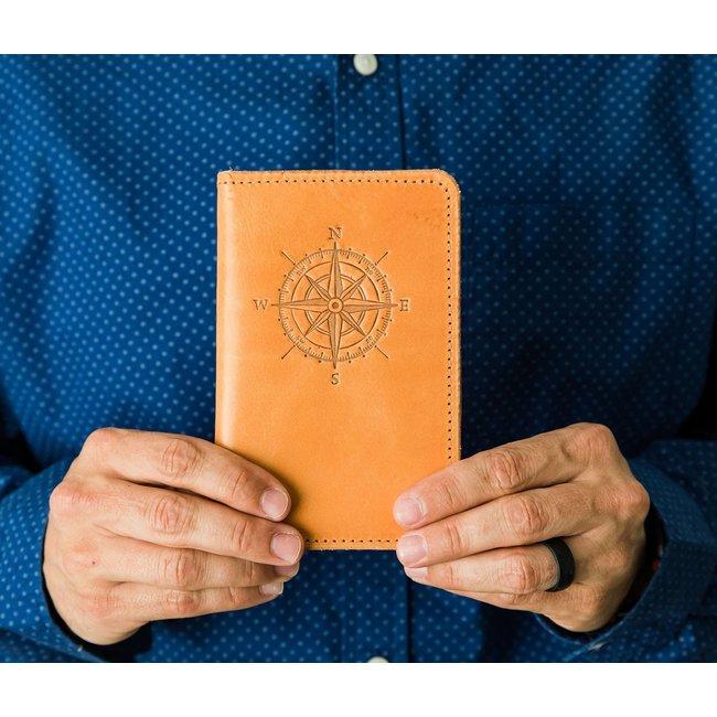 Passport Cover  Buck Brown, 2. Compass