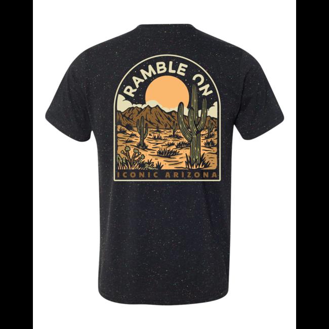 The Desert Rambler Tee - Black Speckled