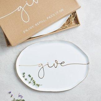 Ceramic Giving Tray