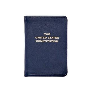 Mini United States Constitution   Blue Leather