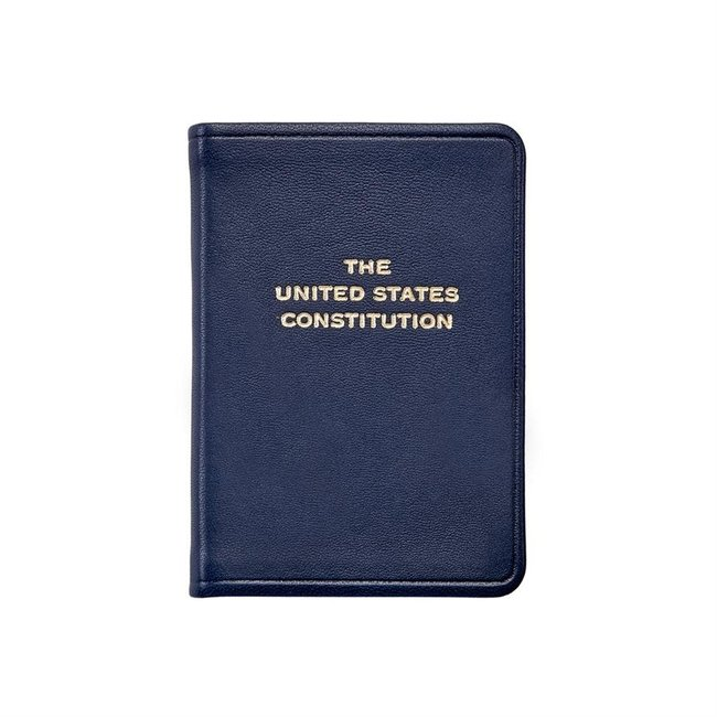 Mini United States Constitution | Blue Leather