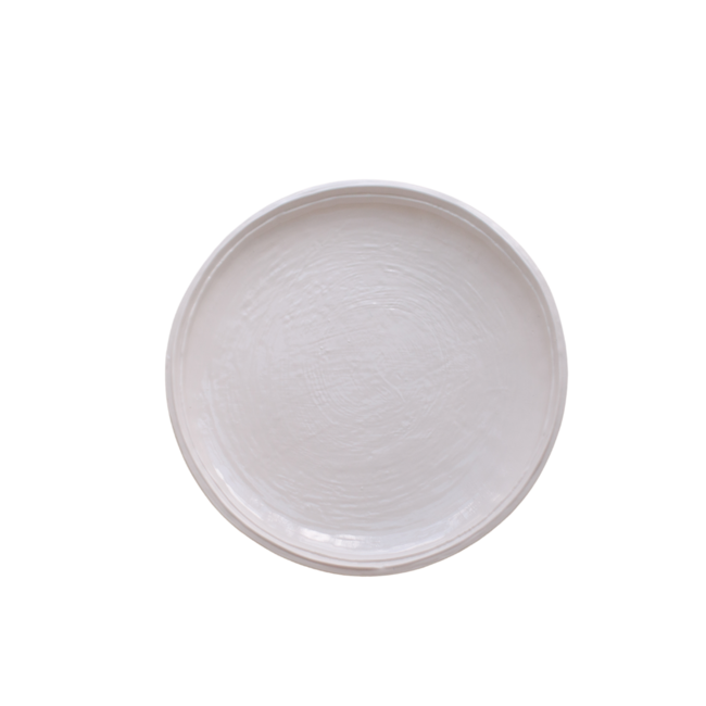 Double Lined Dinner Plate Cream