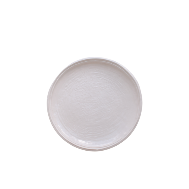 Double Lined Salad Plate Cream