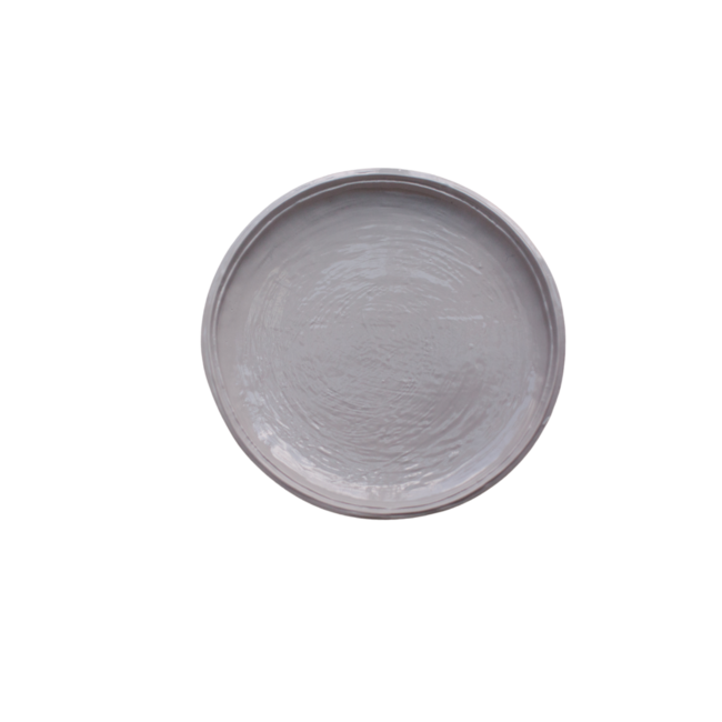 Double Lined Salad Plate Stone