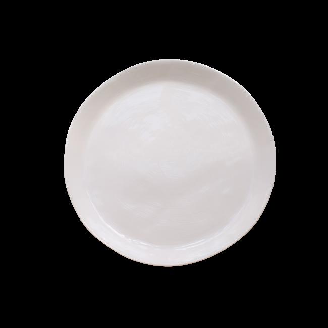 Large Round Serving Platter Cream