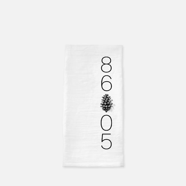 86005 Forest Highlands Zip Code Tea Towel
