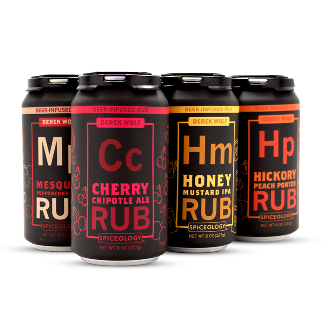 6 Pack Beer Rub Sampler