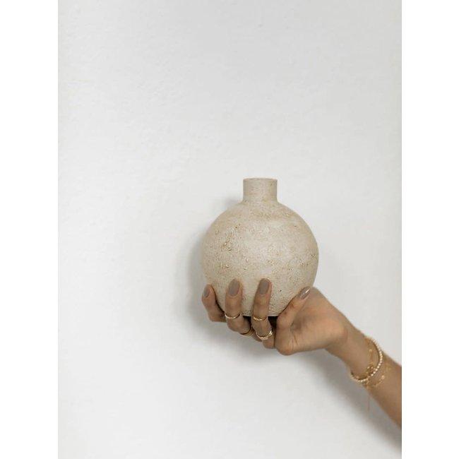 Apple Vase - Rustic Gold