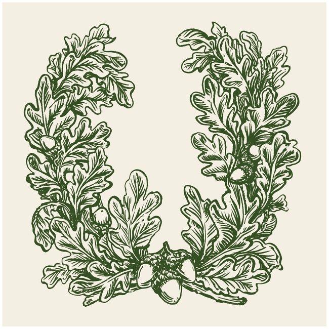 Oak Leaves Cocktail Napkin