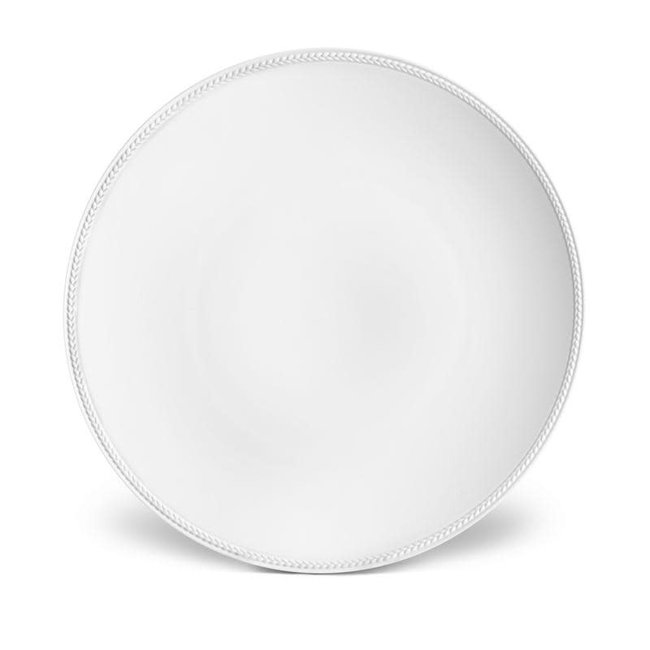 Soie Tressee Charger White