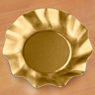 Wavy App/Dessert Bowl Satin Gold