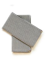Napkin Set Black Broad Stripe