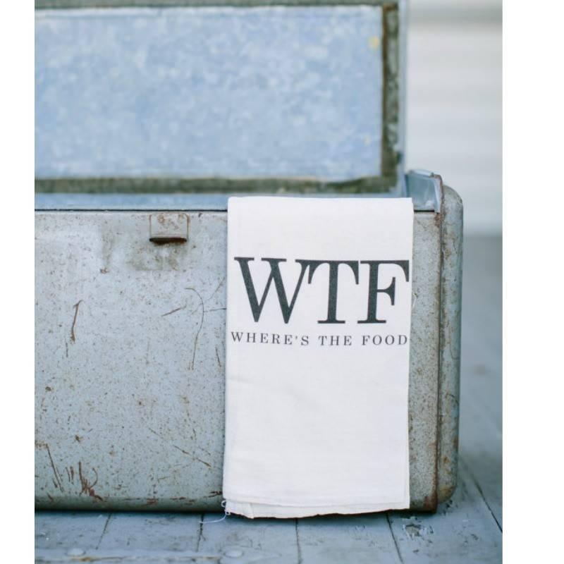 """Tea Towel """"WTF"""""""