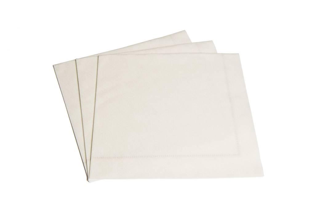 Napkins Hemstitch White
