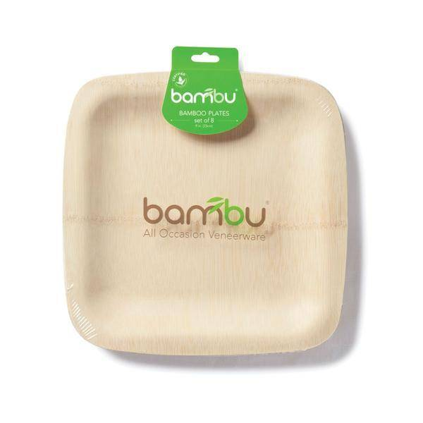 Bambu Veneerware Plate Square 7""