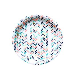 Harlow & Grey Modern Chevron Small Party Plates