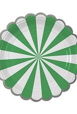 Meri Meri Green Stripe Plate Large