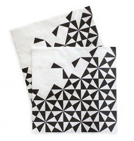 Black Geo Large Paper Napkins