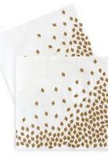 Large Paper Napkin Geo Rose Gold