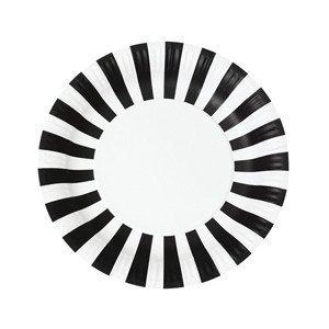 Paper Plate Black Tie