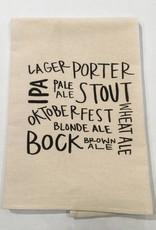 Tea Towel Beer Types