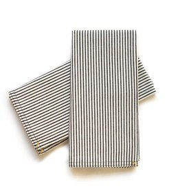 studio stockhome Napkin Set Black Pinstripe