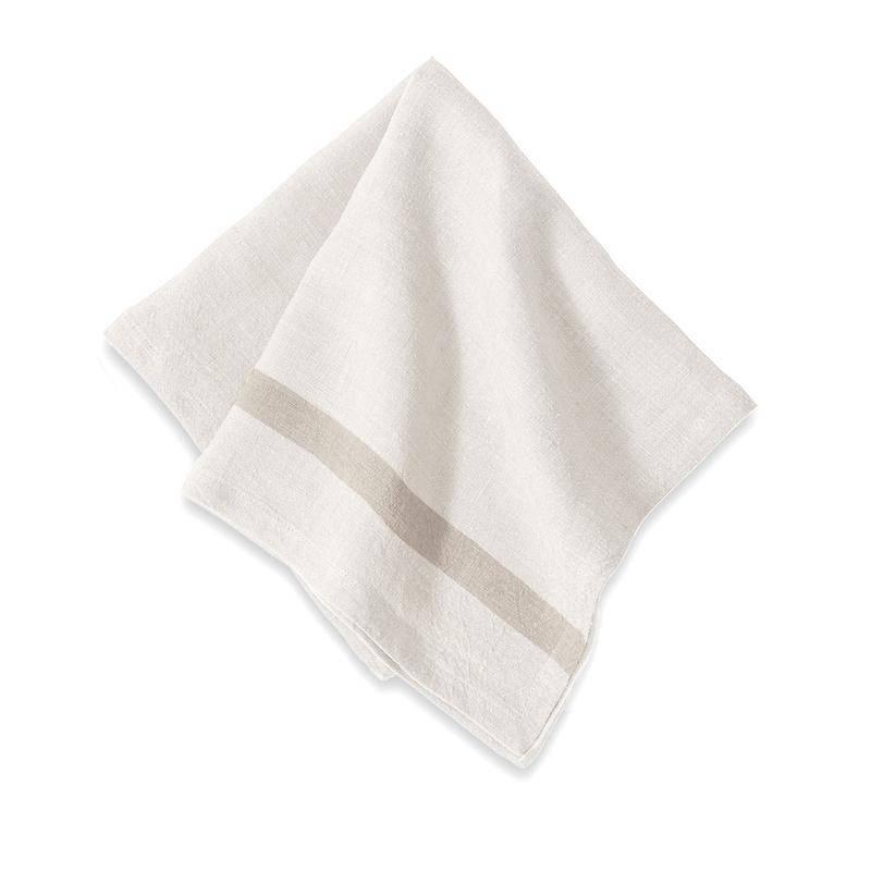 Couleur Nature Napkin Linen White/Natural Stripe
