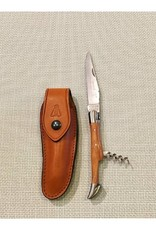 Laguiole Pocket Knife with Corkscrew, Olivewood