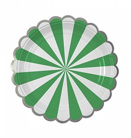 Meri Meri Green Stripe Plate Small