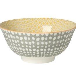 Grey Stamped Bowl