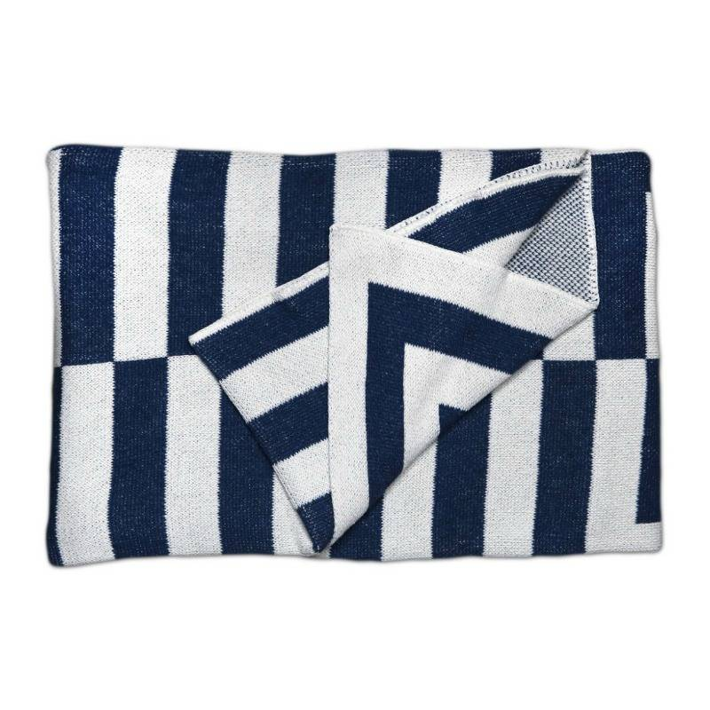 Savannah Hayes Aquino Throw Blanket Indigo