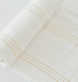 Little Unicorn Gold Stripe Deluxe Muslin Swaddle Single