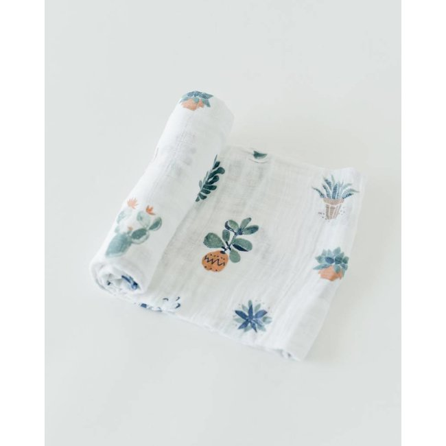Prickle Pots Cotton Muslin Swaddle Single
