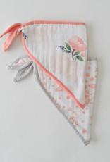 Little Unicorn Watercolor Rose Set Cotton Muslin Bandana Bib