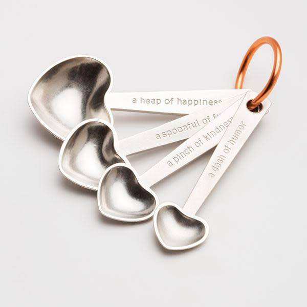 Beehive Handmade Quotes/Heart Measuring Spoon